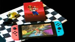 Receive a SteelBook case with a purchase of Mario Kart 8 Deluxe for Nintendo Switch